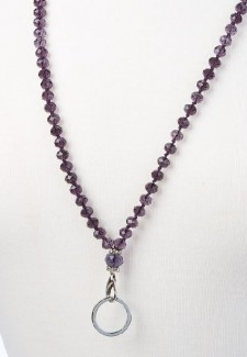 Purple Crystal Fashion ID Lanyard