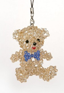 UCLA Boy Teddy Bear Swarovski Crystal Ornament