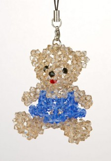 UCLA Girl Teddy Bear Swarovski Crystal Ornament