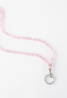 Pink Crystal Fashion ID Lanyard