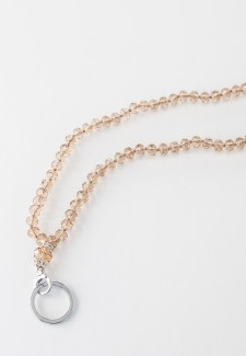 Champagne Crystal Fashion ID Lanyard