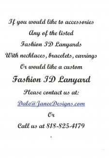 Custom Accessories Your Fashion ID Lanyard