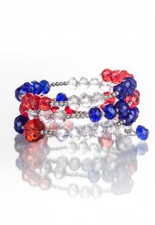 RWB Crystal Wrap Bracelet